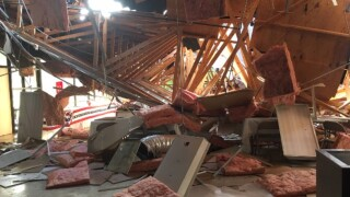 Roof collapses at Crowley church causing extensive damage