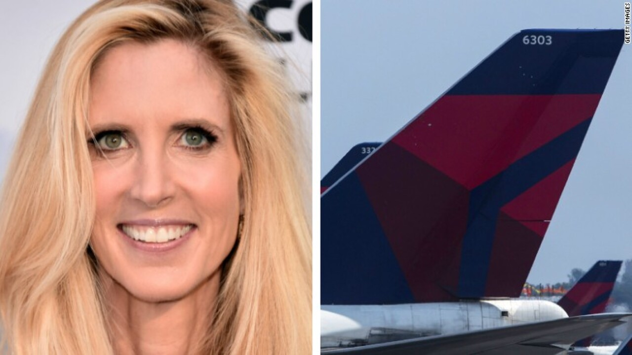 Delta hits back at Ann Coulter after her 'public attack' on Twitter over seat mix-up