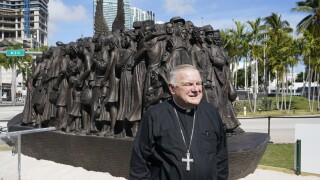Archbishop Thomas Wenski in downtown Miami, Feb. 10, 2021