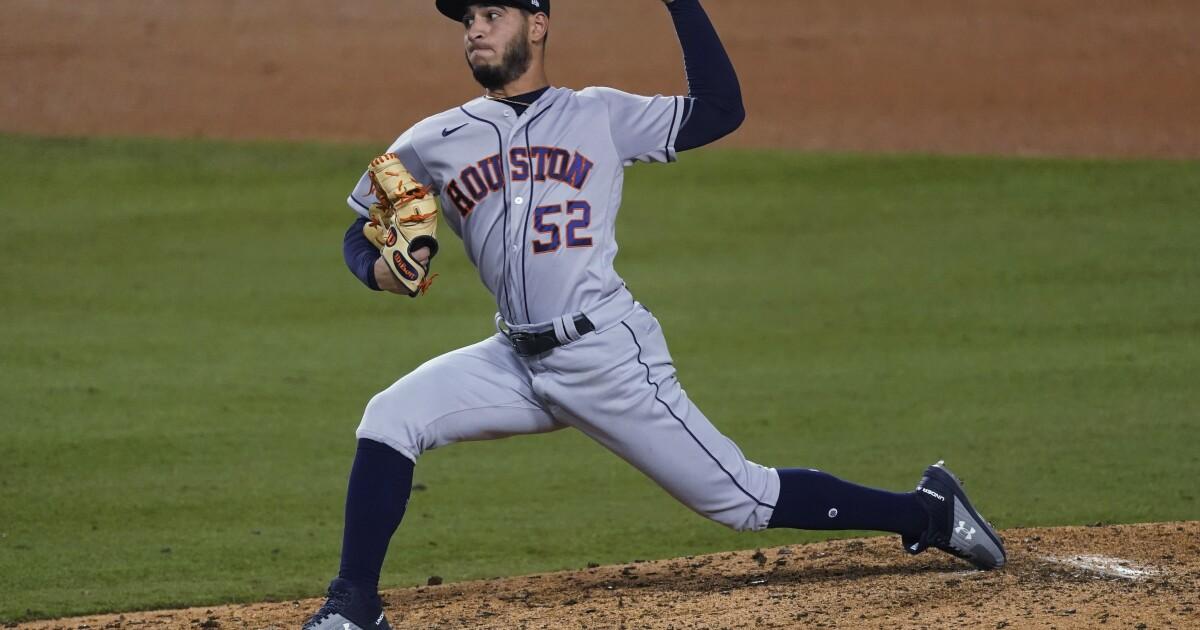 Reds acquire Houston Astros pitcher Cionel Pérez