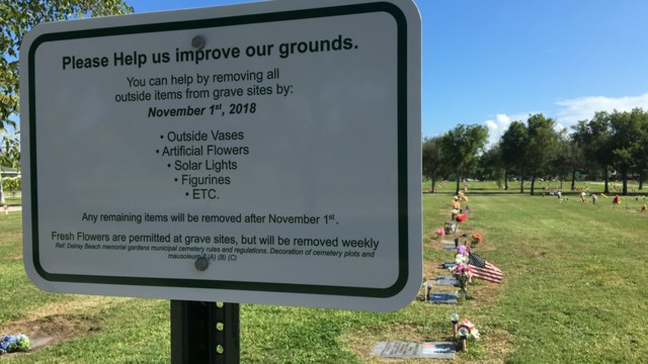 Delray Beach cemetery policy upsets grieving families