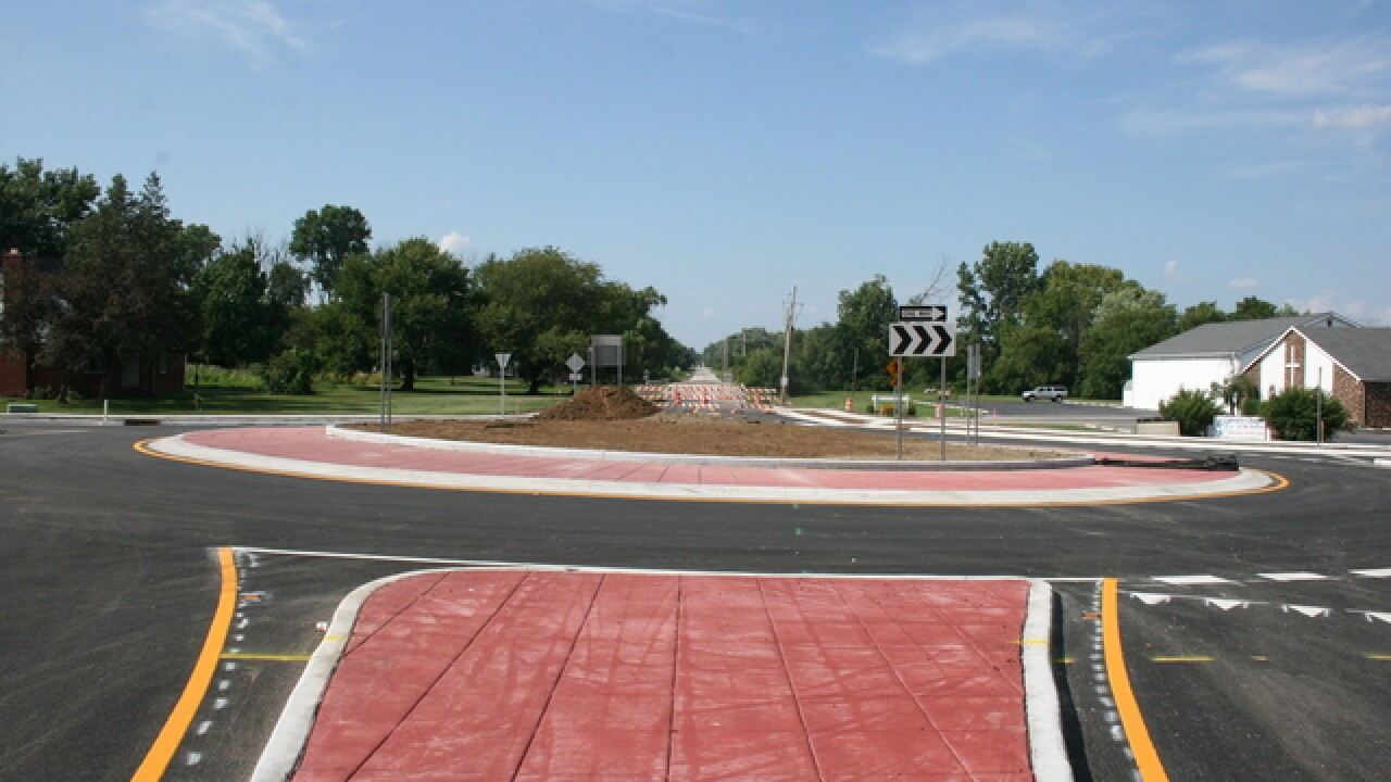 New roundabout opens on Indy's west side