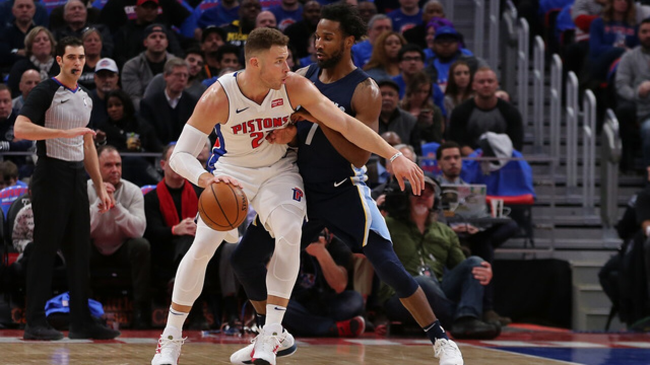 PHOTO GALLERY: Blake Griffin's Pistons debut