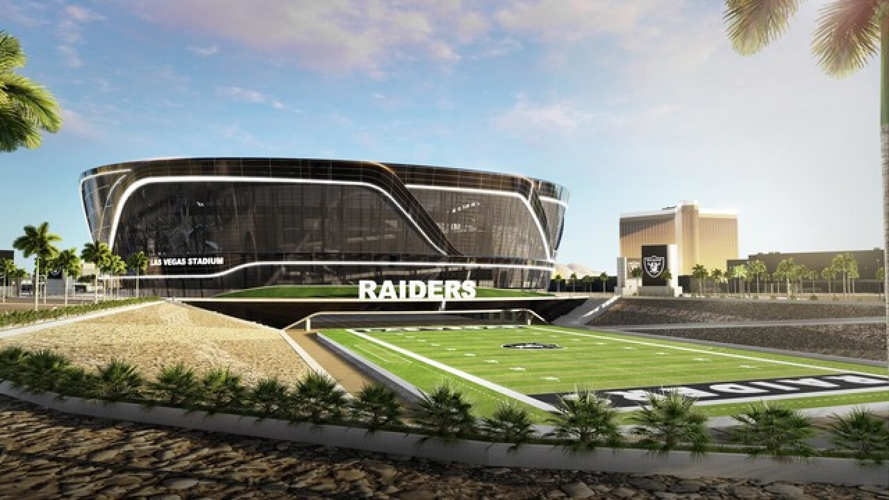 Raiders want to break ground on stadium Nov. 1