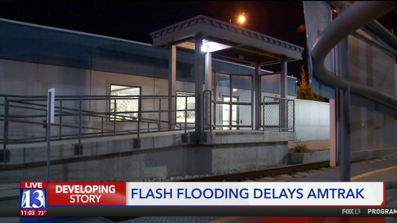 Flash flooding in Utah delays two Amtrak trains