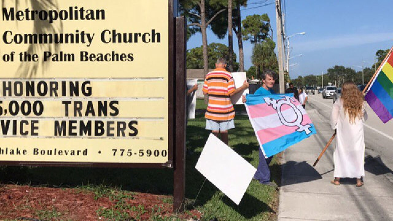 LGBTQ church protests President's ban on transgendered military service members