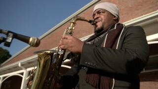 Musicians play for Election Day voters for moment of normalcy and hope