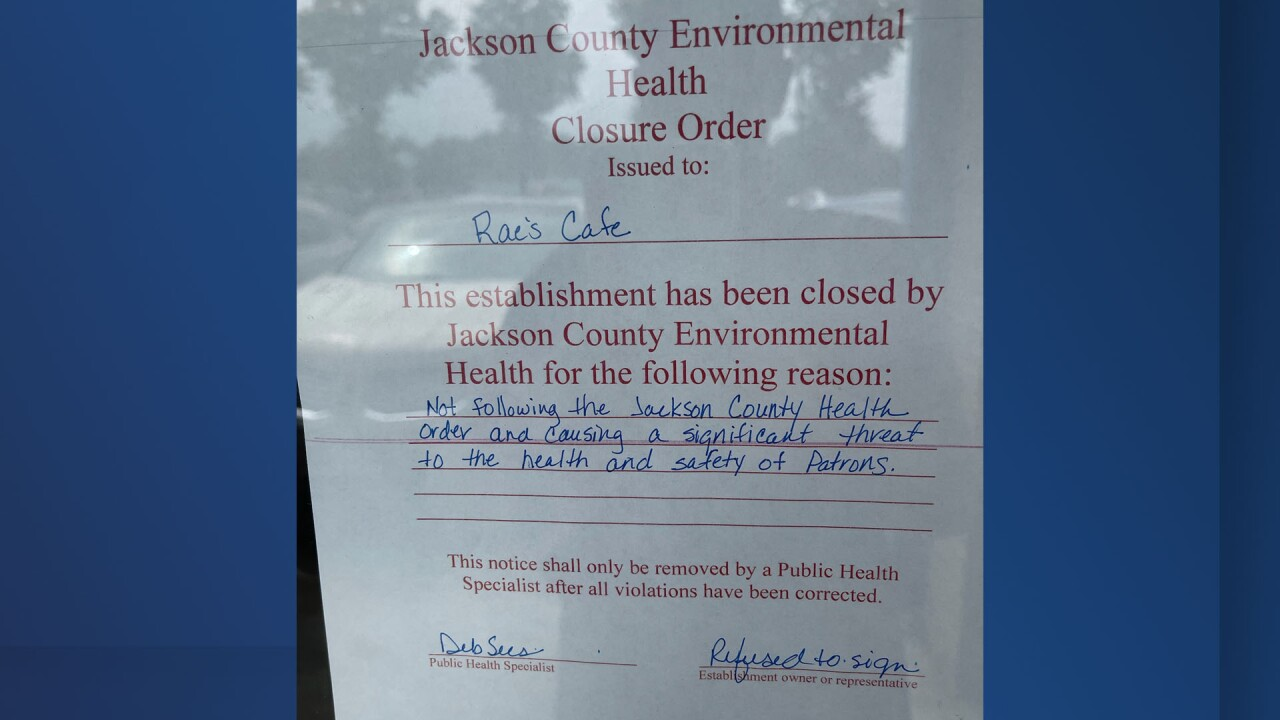 Raes Cafe closure.jpg