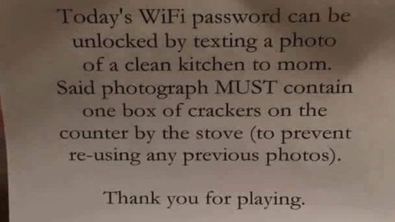 Mom Comes Up With Genius Way To Make Her Internet-obsessed Kids Do Their Chores