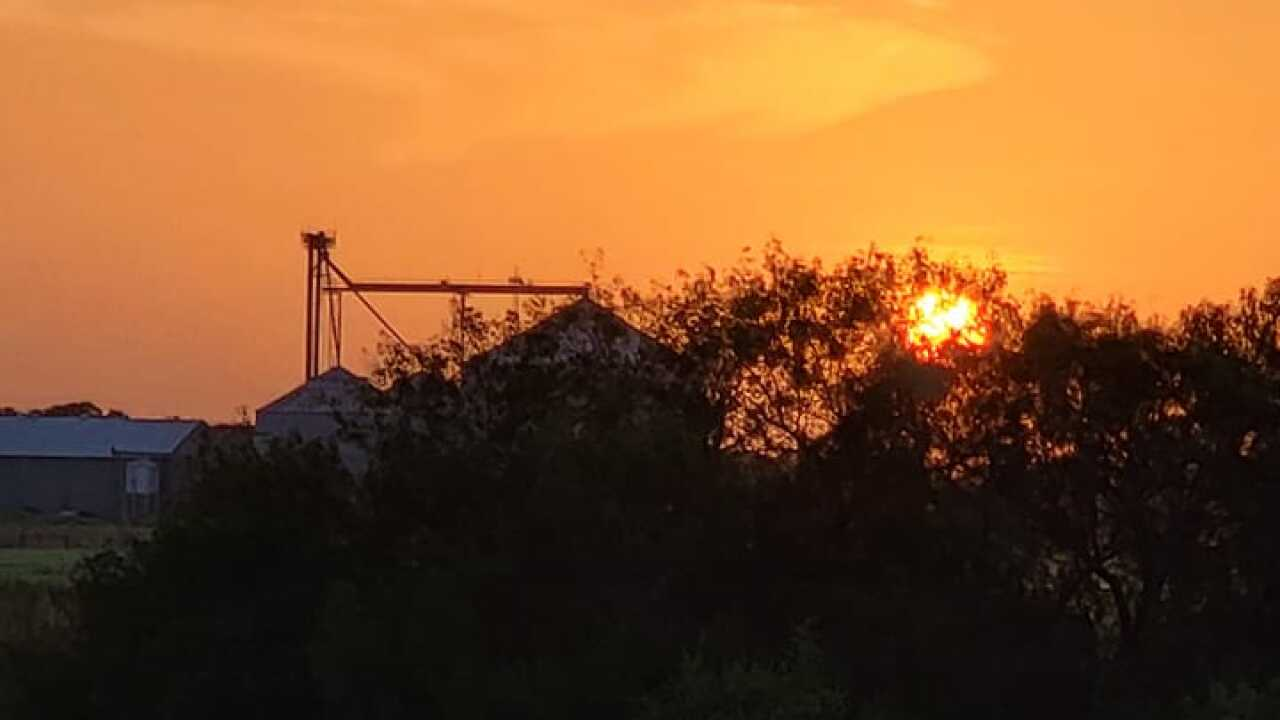 Orange Grove Sunset - Photo By: FB Coastal Bend Weather Watcher Shane Kuper
