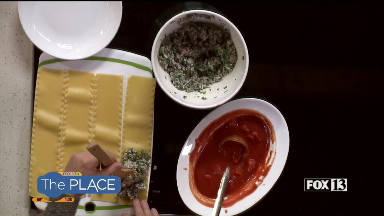 Rich in the Kitchen: Lasagna Rolls