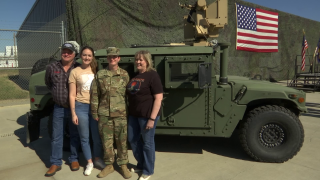 Sgt. Dailyn Finnicum, and her mother, father and sister