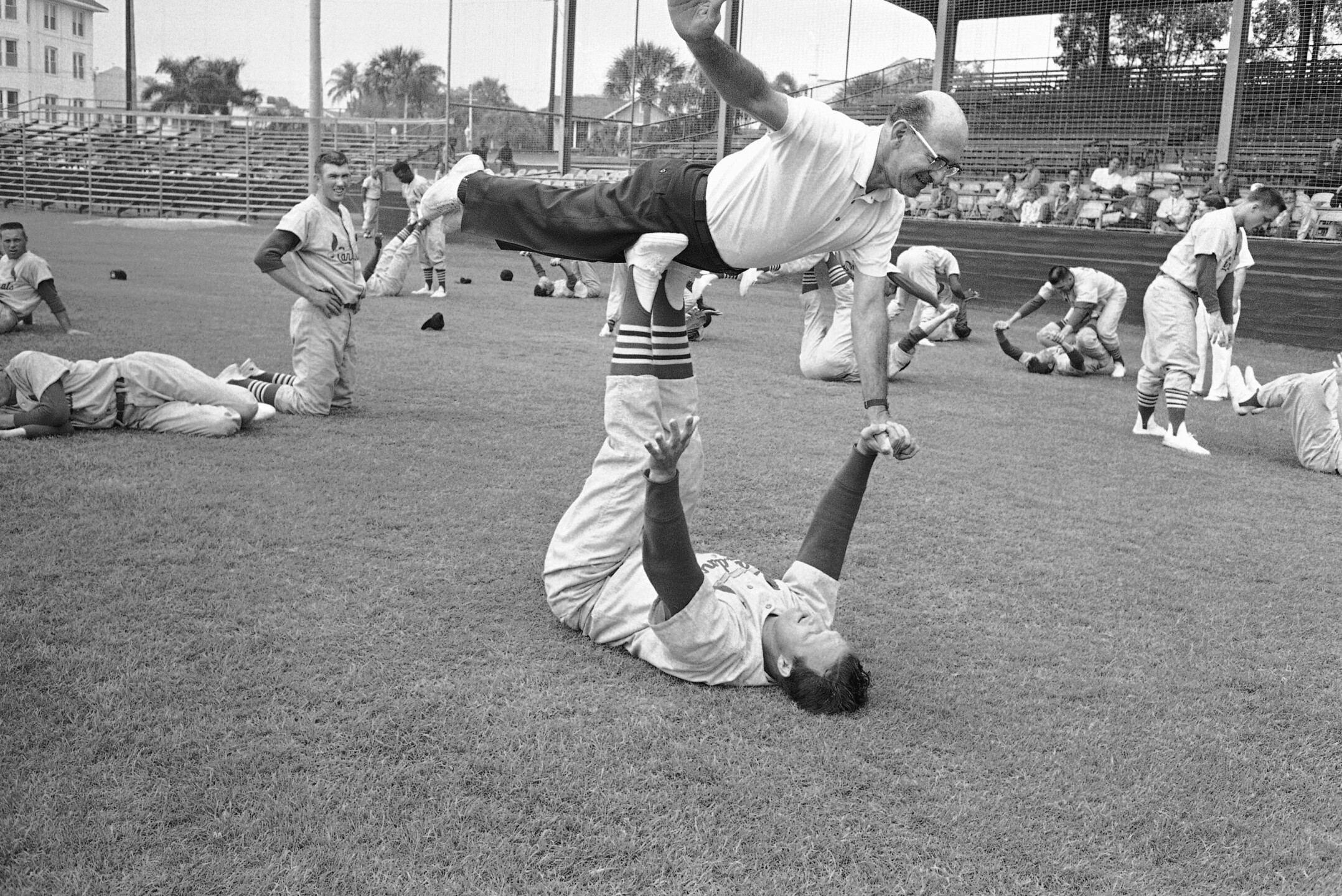 Stan Musial and Walter Eberhardt
