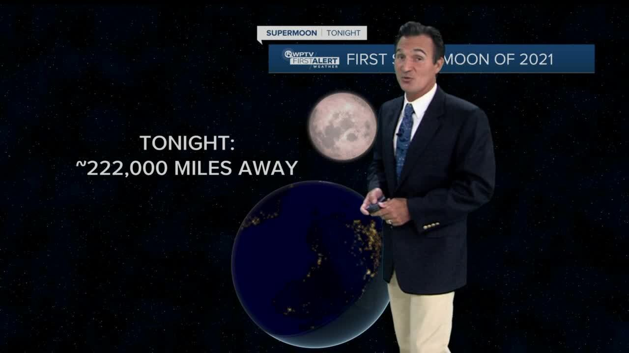 James Wieland on distance to earth of first supermoon of 2021