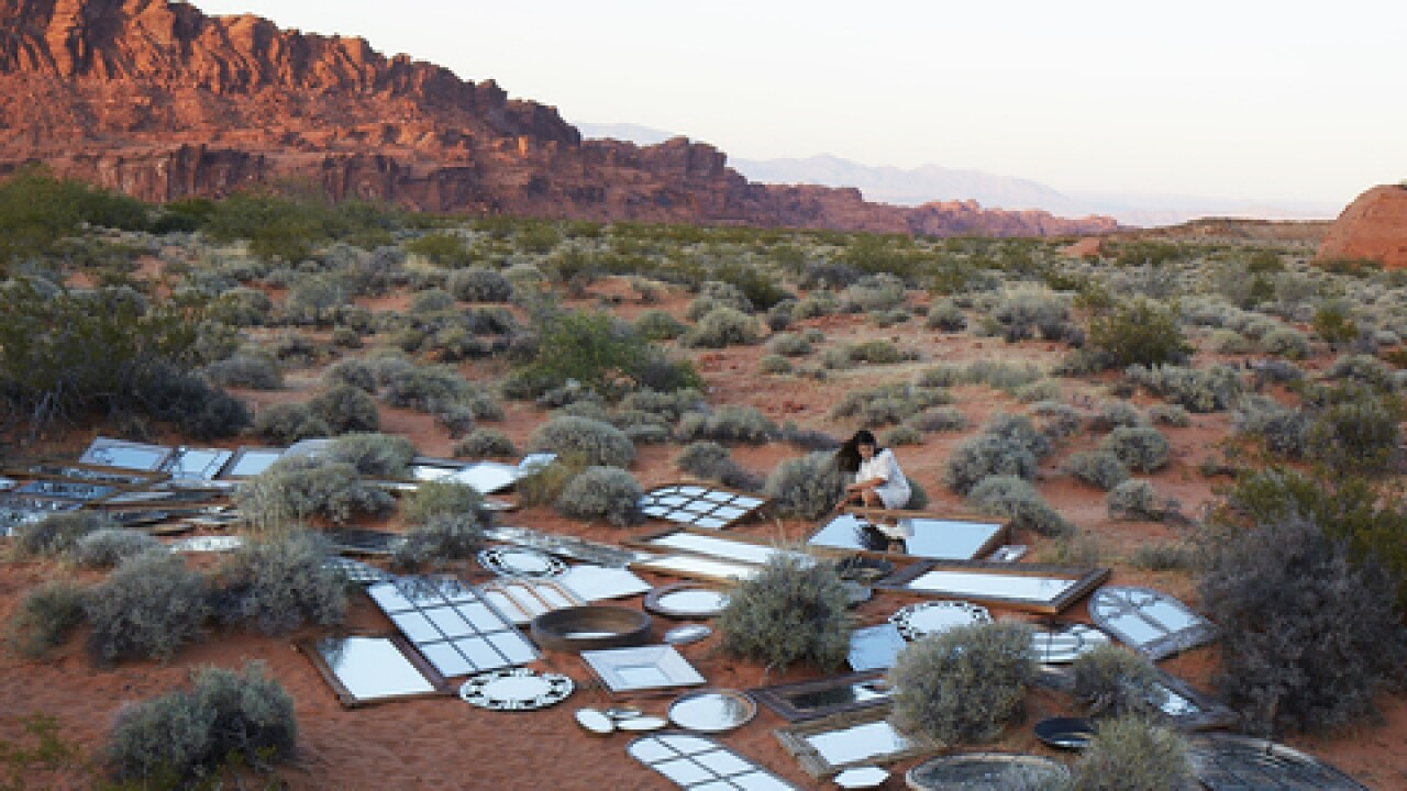 New art installation at Valley of Fire