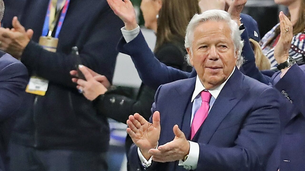 Sex charges dropped against New England Patriots owner Robert Kraft in Jupiter spa case