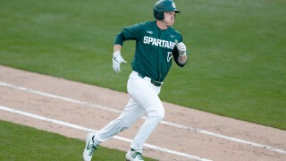 Encouraged by future employer, Bryce Kelley will play an extra year at Michigan State