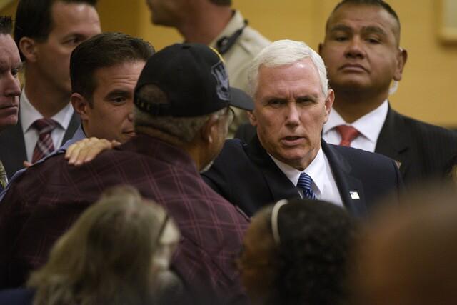 PHOTOS: Vice President Mike Pence speaks at Las Vegas City Hall