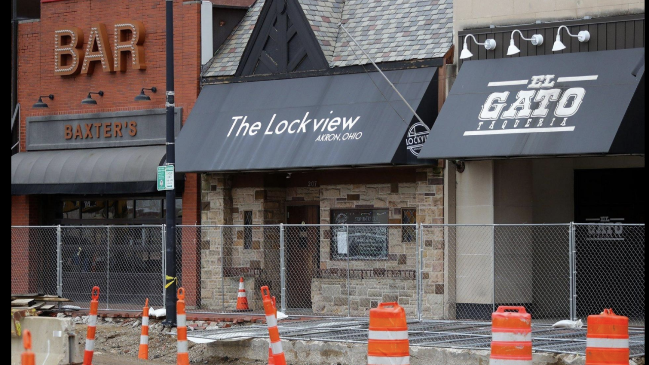 Baxter's, The Lockview and El Gato Taqueria would be included in Akron's proposed Designated Outdoor Refreshment Area.