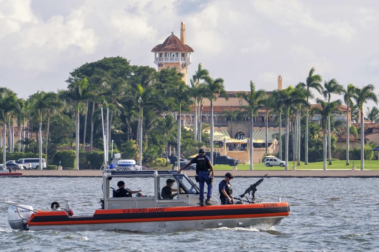 Coast Guard boat patrols Mar-a-Lago in 2018