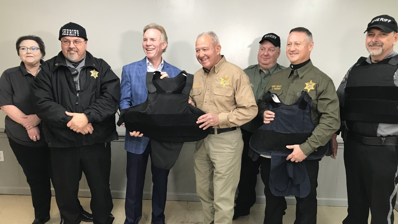 Bulletproof vests donation Giles
