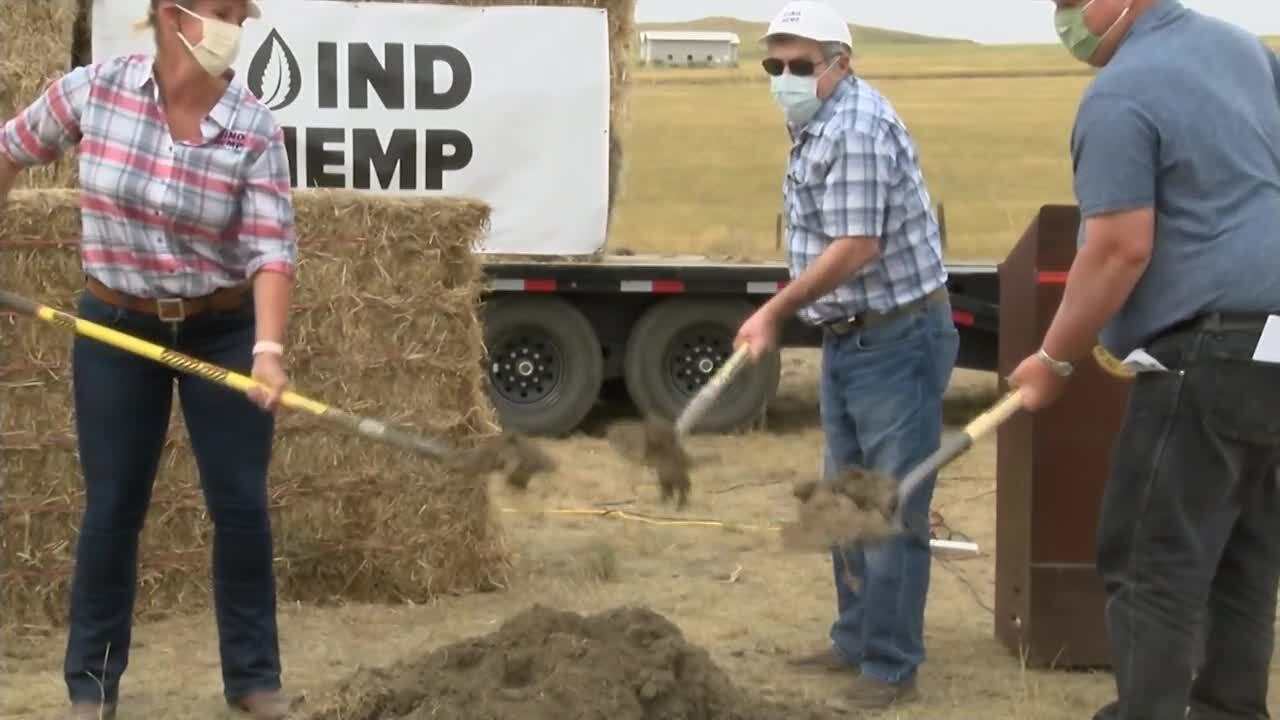 Groundbreaking for a one-of-a-kind hemp processing plant in Fort Benton