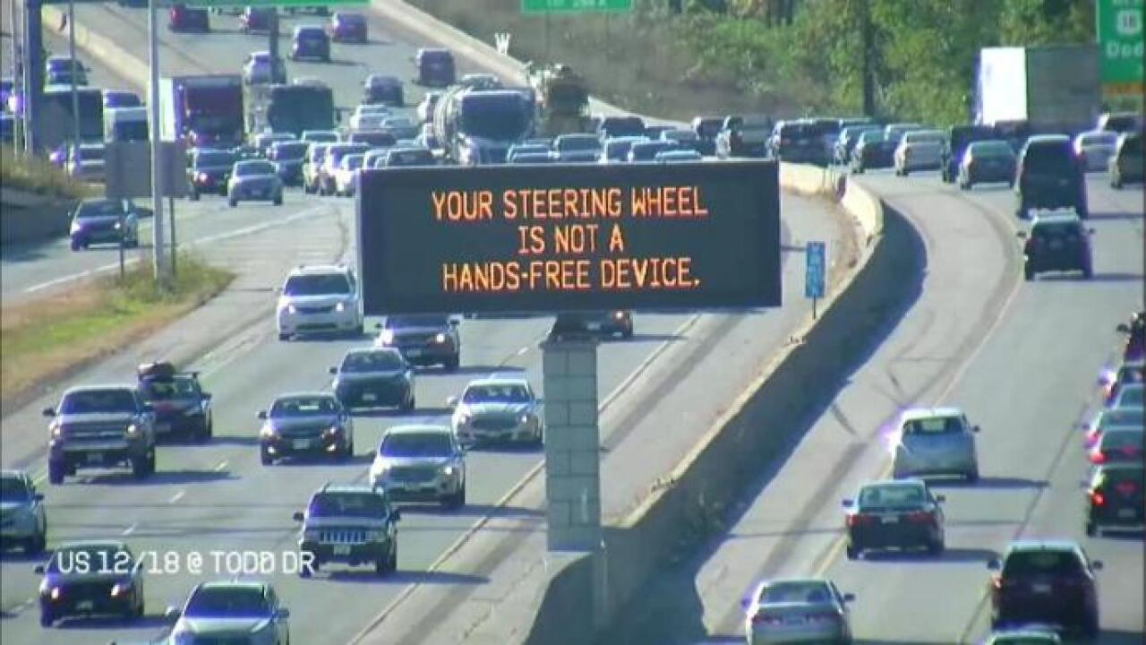 DOT message board along US 12/18