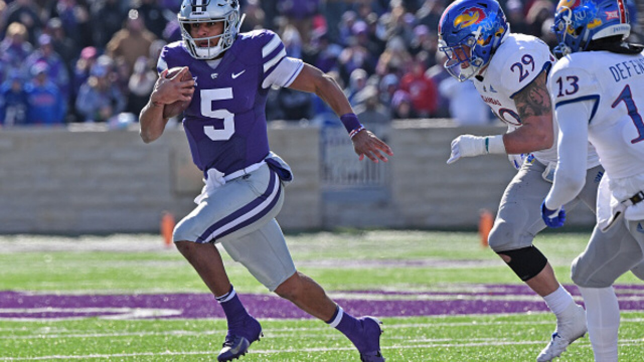 Bender finished with 232 yards passing for KU