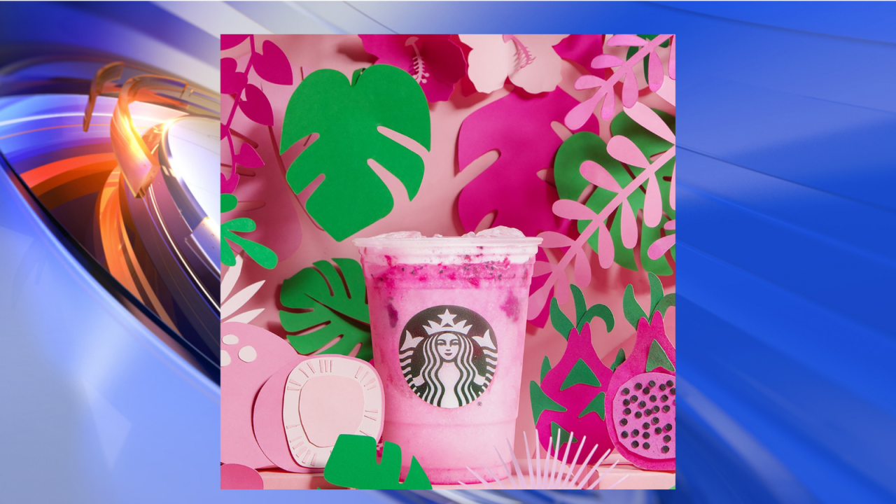 Starbucks rolls out summer menu with a hot pink Dragon Drink