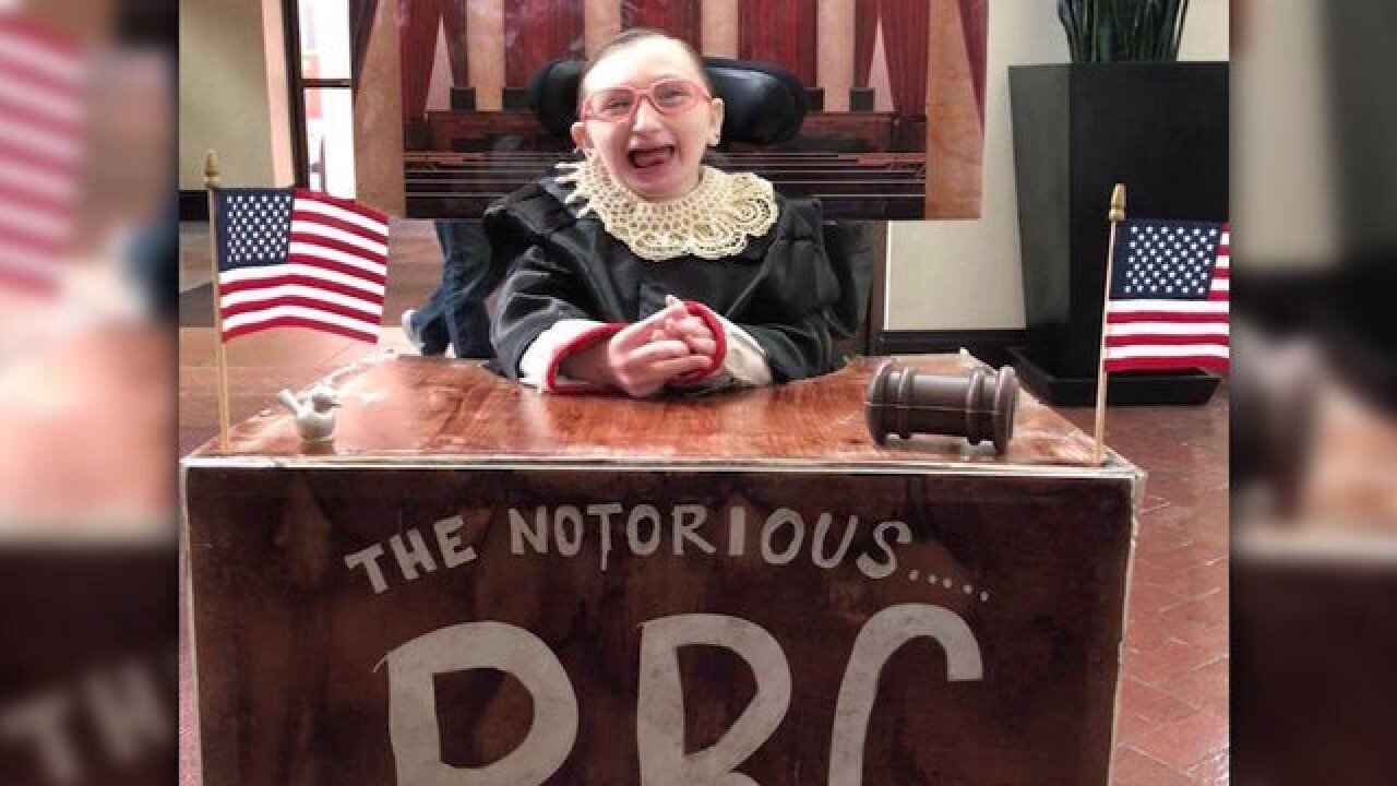 A girl and her wheelchair became the 'Notorious RBG' for Halloween
