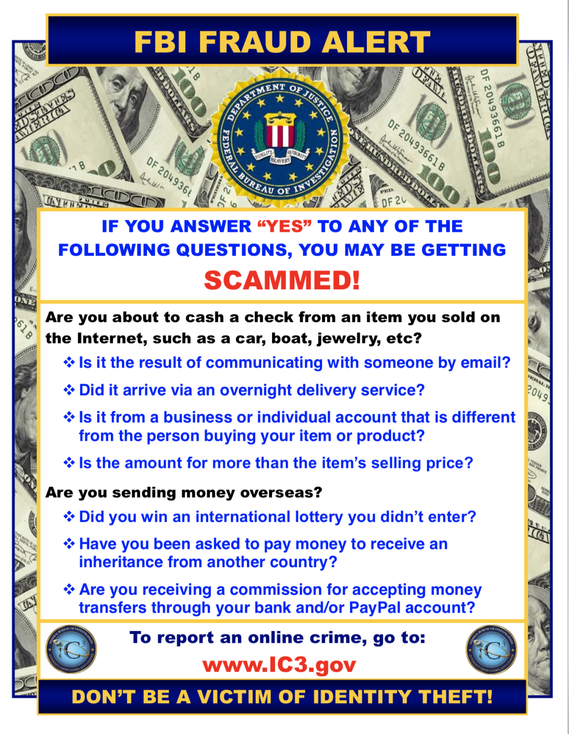 hpd fbi scam warning