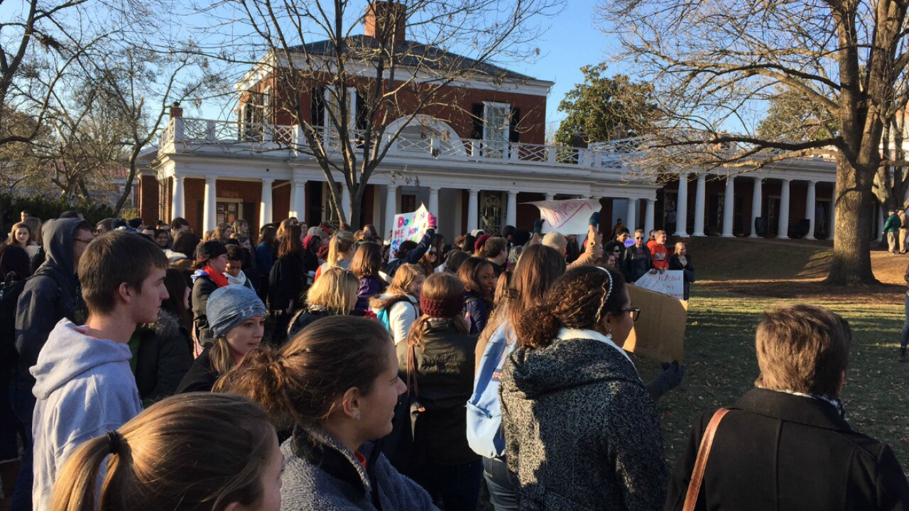 Hundreds take part in 'Slut Walk' at the University of Virginia