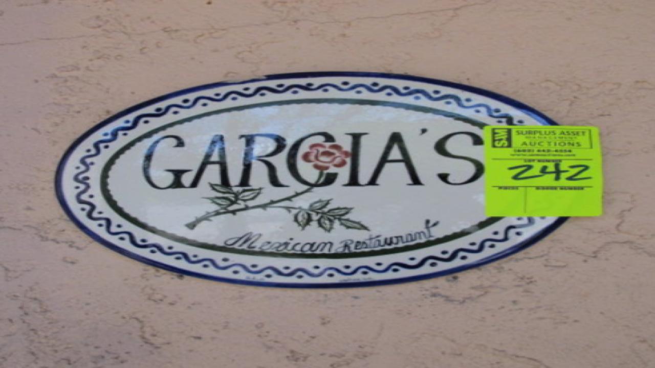 Garcia's Restaurant auctions memorabilia