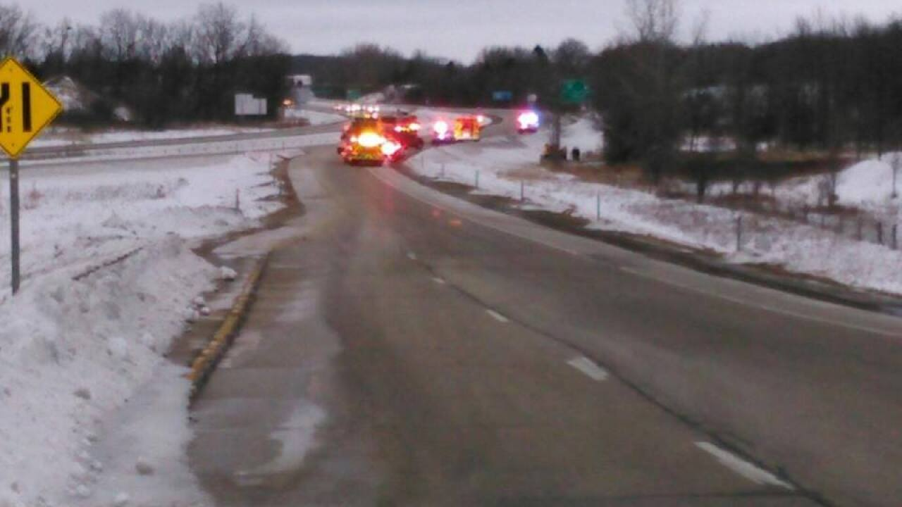 A 64-year-old Port Washington woman is dead after a single-vehicle crash on I-43 northbound in the Town of Grafton Saturday afternoon.