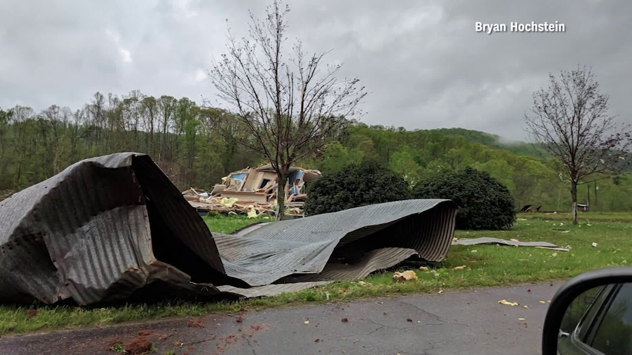 Serious damage reported after confirmed tornado near Smith MountainLake
