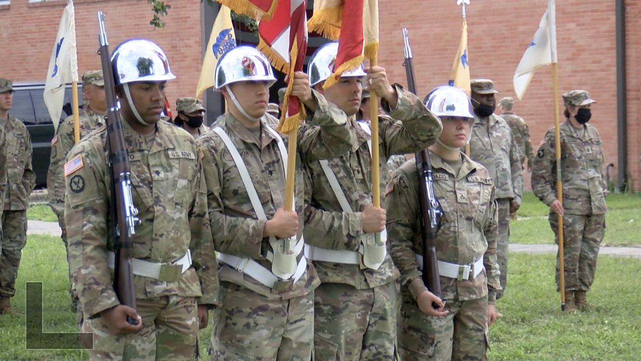 U.S. soldiers experience a change in command