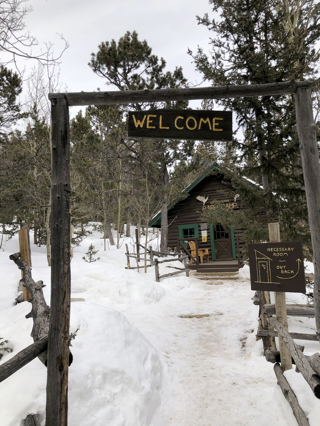 Barr Camp with welcome sign_February 2020