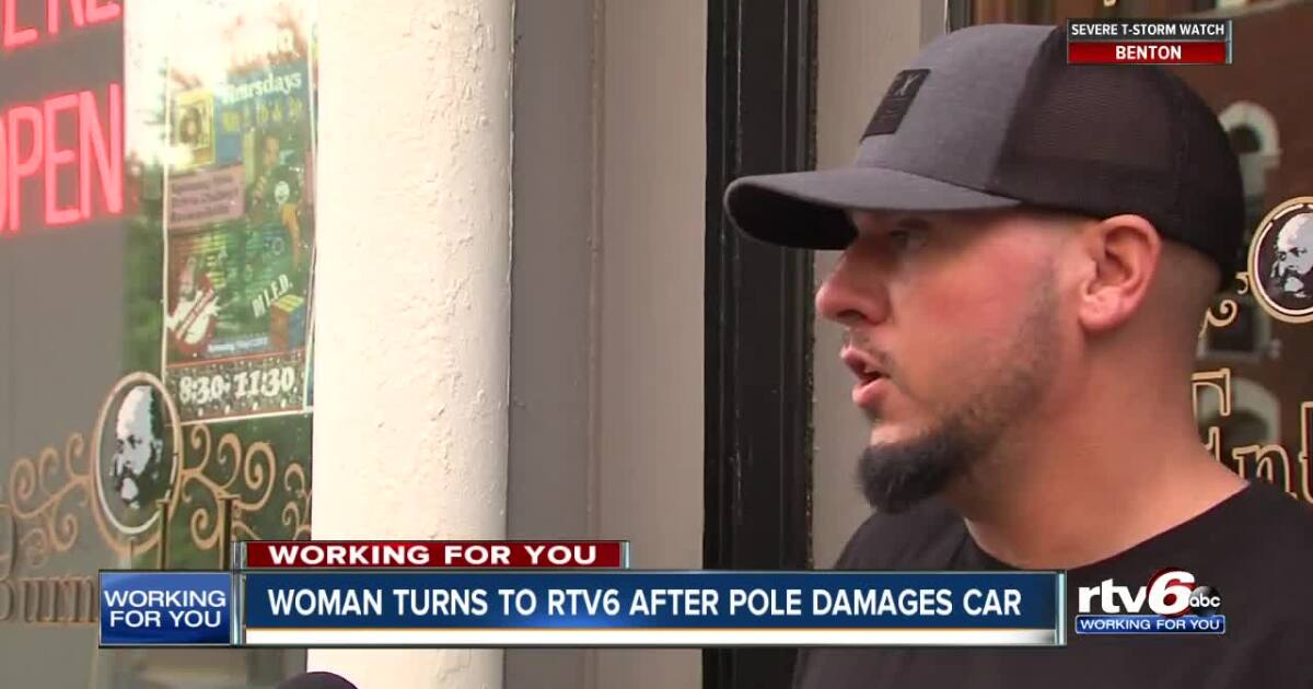 Woman wants someone to take responsibility for fallen pole