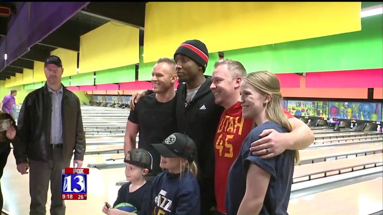 Hot off dunk contest win, Donovan Mitchell bowls for charitable cause