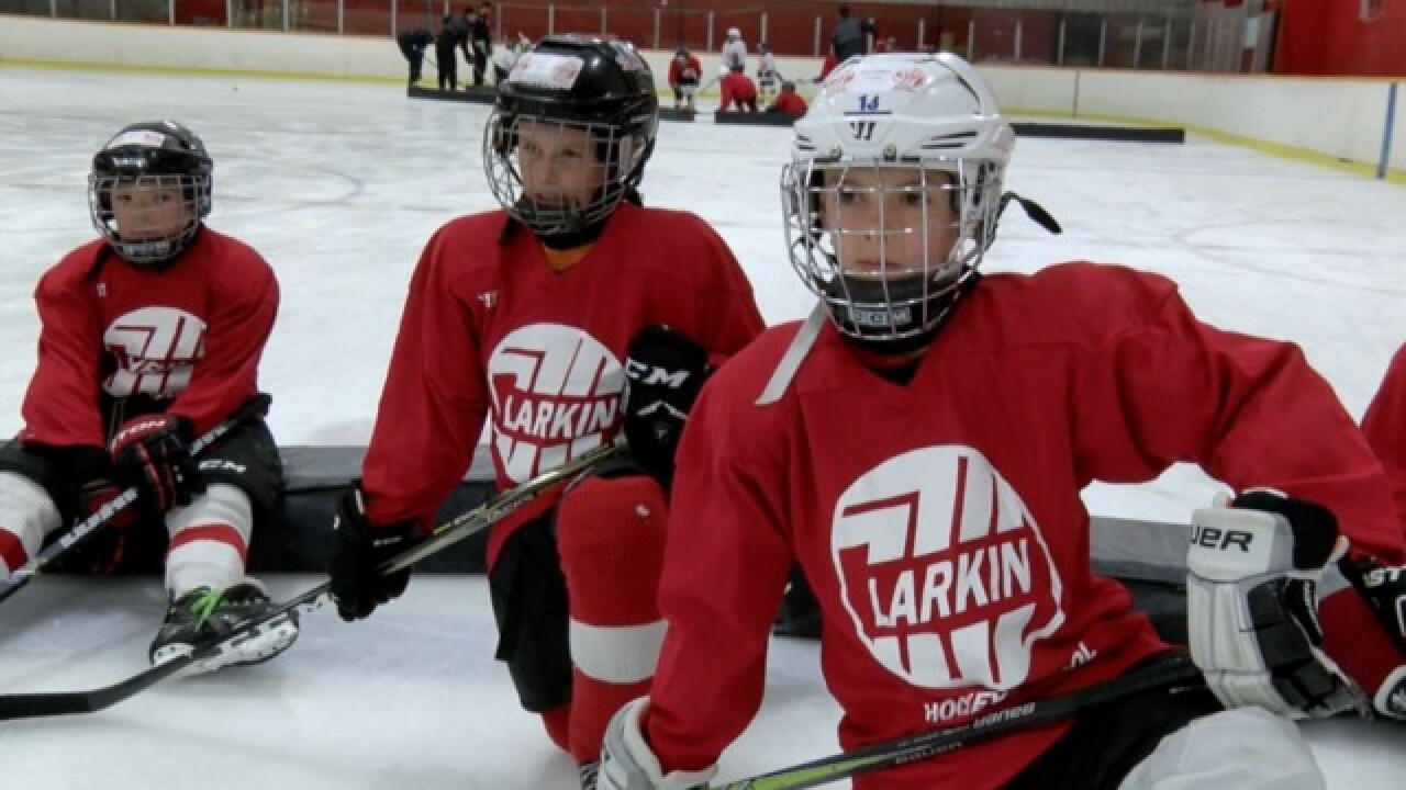 Larkin grows as a coach at annual hockey school