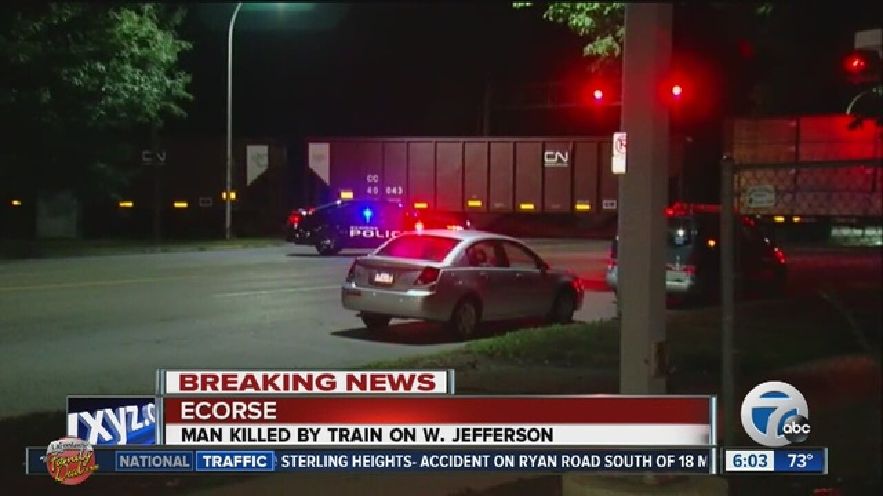 Man hit, killed by train in Ecorse while riding his bike