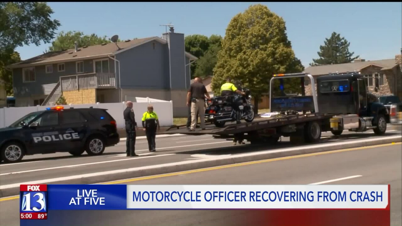 West Jordan PD motorcycle officer released from hospital after crash