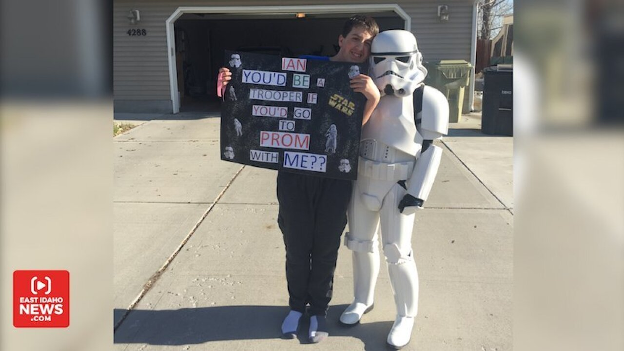 Girl dresses up as storm trooper to ask boy with special needs to prom. But that's just the beginning.