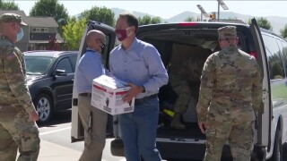 Gov. Bullock delivers PPE to Missoula school