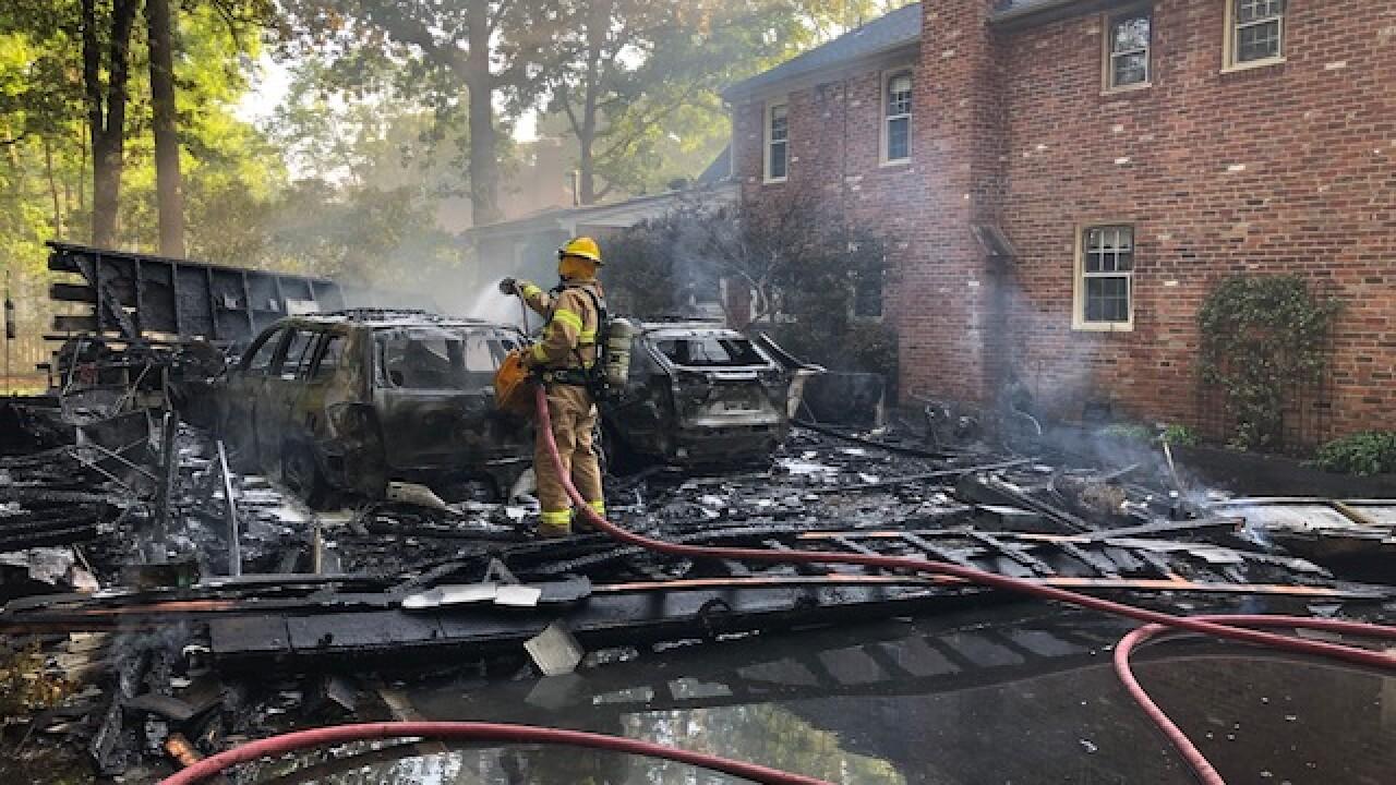 Burning car sparked 'total loss' West End garagefire