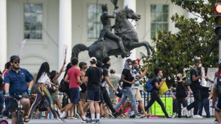Protesters converge on White House for second straight day to call for justice for George Floyd