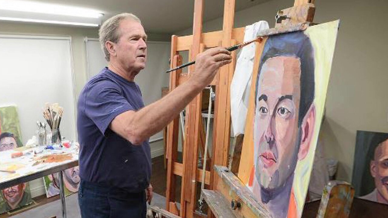 George W. Bush discovers his 'inner Rembrandt' in homage to veterans