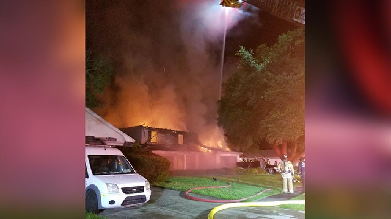 Fire destroys Carrollwood home