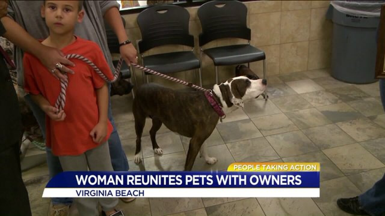 People Taking Action: Local woman works night and day to reunite lost pets withowners!