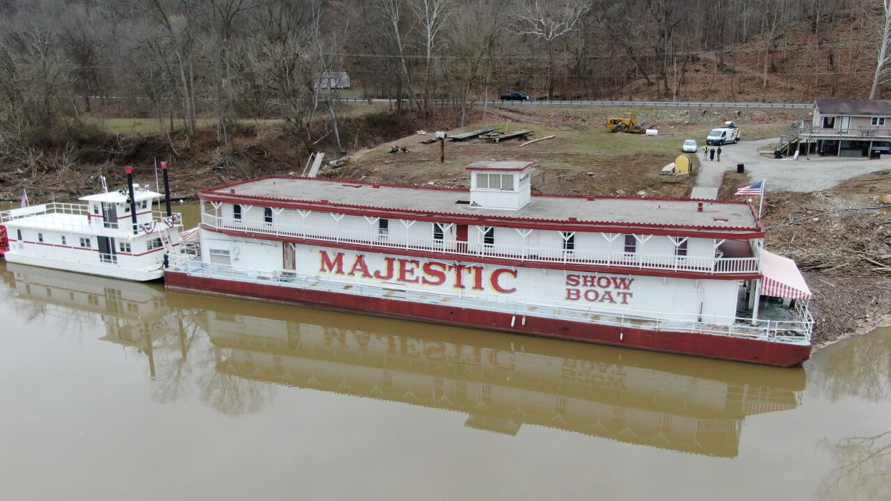 Showboat Majestic is docked just outside of Manchester in Adams County